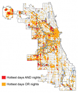 Chicago's urban hot spots