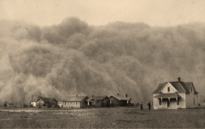 Dust Bowl of 1935 in Stratford, Texas