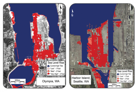 Northwest Cities at Risk to Sea-Level Rise