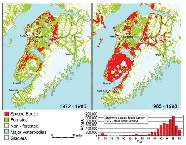Kenai Peninsula, 1972 to 1998