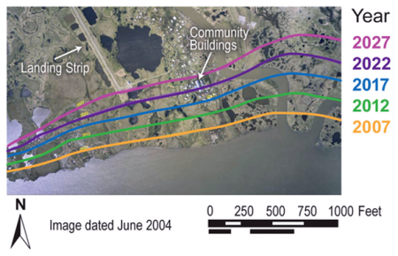 Projected Coastal Erosion, 2007 to 2027 Newtok, Western Alaska