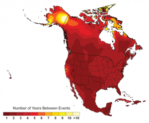 Projected Frequency of Extreme Heat (2080-2099 Average)