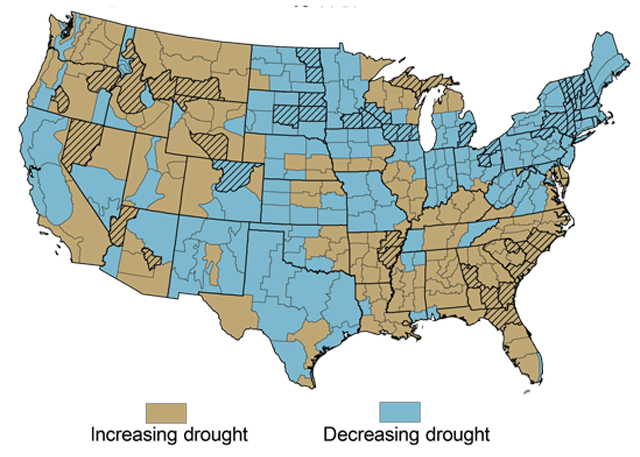 Observed Drought Trends 1958 to 2007