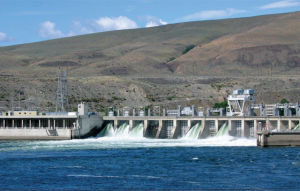 Hydroelectric dam in the Northwest