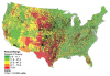 Distribution of Beef Cattle and Pasture/Rangeland in Continental U.S.